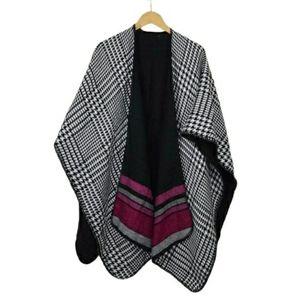 Woolrich Women's Reversible Blanket Wrap Poncho